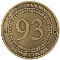 Flight 93 Gold Hiking Medallion