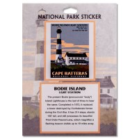 Cape Hatteras Lighthouse Retro Decal