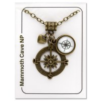 Mammoth Cave Compass Necklace