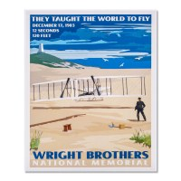 Wright Brothers Retro Print