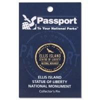 Ellis Island Passport Pin