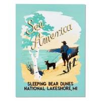 Sleeping Bear Dunes ''See America'' Print