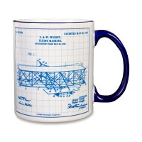 Wright Flyer Blueprint Mug