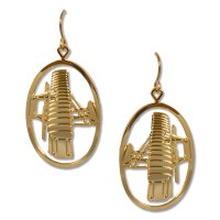 Wright Flyer Gold Earrings