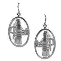 Wright Flyer Silver Earrings