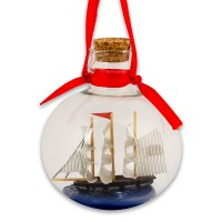 USS Constitution Ship in Bottle Ornament