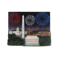 National Mall Fireworks Magnet