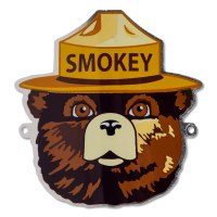 Smokey Bear Hiking Medallion
