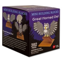 Great Horned Owl Mini Blocks