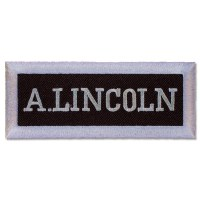 Abraham Lincoln Nameplate Patch