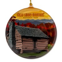 Great Smoky Mountain Cabin Sun Catcher