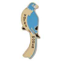 Bluebird Suffrage Pin