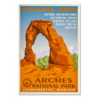 Vintage Arches National Park Poster