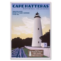Cape Hatteras Ocracoke Light Station Poster