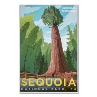 Sequoia National Park Vintage Poster