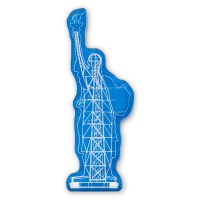 Statue Of Liberty Silhouette Magnet