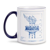 Statue Of Liberty Blueprint Mug