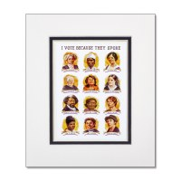 Suffragists Portraits Matted Poster