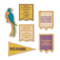 19th Amendment Wooden Sticker Set