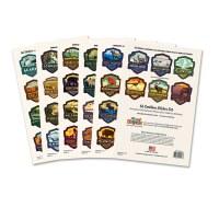 62 National Parks Emblem Sticker set