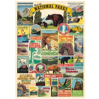 National Park Icons Poster