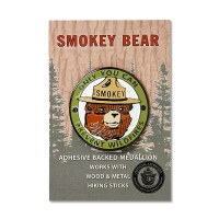 Smokey Bear Head Hiking Stick Medallion