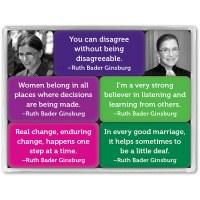 Ruth Bader Ginsburg Mini Magnet Set
