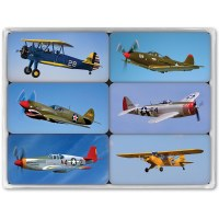 WWII Airplanes Magnet Mini Set