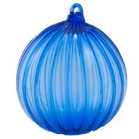 Cobalt Glass Ball Ornament