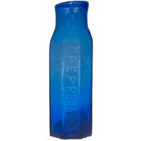 Cobalt Glass Pepper Bottle