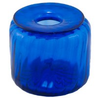 Cobalt Glass Inkwell