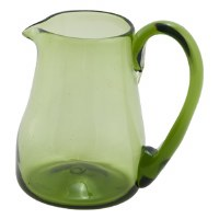 Green Glass Creamer