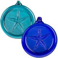Handcrafted Glass Ornament - Starfish