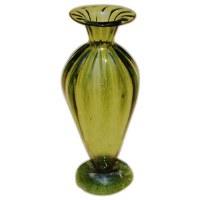 Handblown Green Amphora Vase
