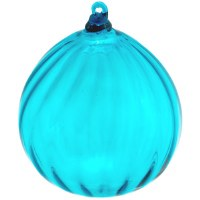 Teal Glass Ornament