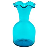 Handblown 6 Lipped Vase (Teal)