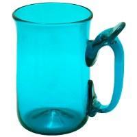 Teal Glass Mug