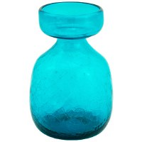 Teal Crackled Glass Bulb Forcer