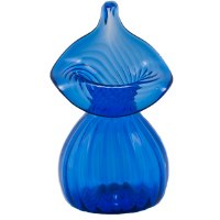 Handblown Mini Jack-in-Pulpit Vase (Cobalt)