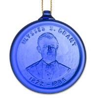 Cobalt Ulysses S. Grant Ornament
