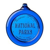 Passport Cobalt Glass Ornament
