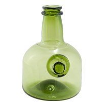 Green Armorial Wine Bottle