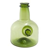 Green Armorial Wine Bottle