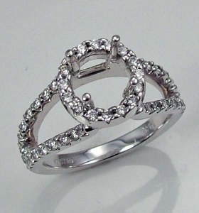 Diamond engagement ring 14ktw 0.51cttw 076-7468