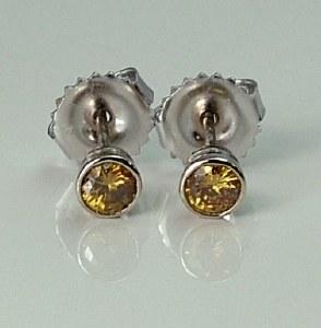 Yellow Diamond Stud Earrings 0.25cttw VS2