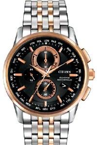 Citizen Eco Drive Men's World Chronograph Watch Model AT8116-57E