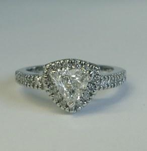 Diamond ring 14kt gold 0.95 cttw model M-5008