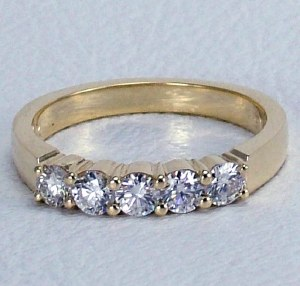 Diamond band 14kt gold 0.50 cttw model SWR2502Y