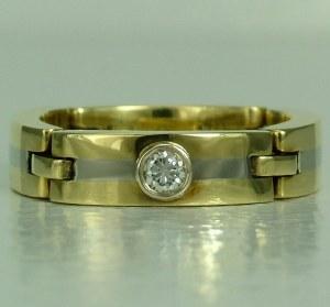 Diamond Ring 0.11ct 18kt2tt
