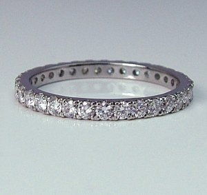 Diamond eternity band 18ktw 0.77cttw model SWR9606W